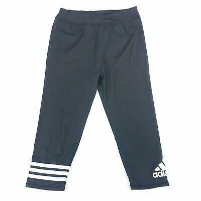 Adidas Capri Leggings Fitted Pants Youth Sz Large YL 12/14 Athletic Active Wear
