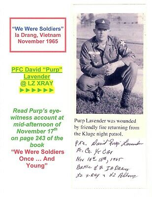 Basil Plumley /& General Hal Moore We Were Soldiers COMBO SIGNED Vietnam photo