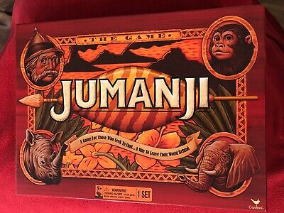 2017 Cardinal JUMANJI Board Game Complete In Box Excellent Condition