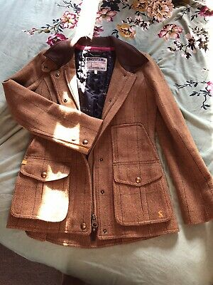 Womens Joules Mr Toad Tweed Jacket Size 8