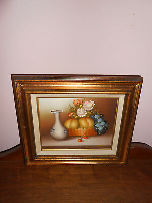 Hand Painted Beautiful fruit/ flowers wall picture  C Desmond