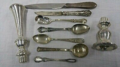 ANTIQUE SILVER LOT Sterling Flatware WHITING Towle J.S. CO Towle PAIRPOINT Plate