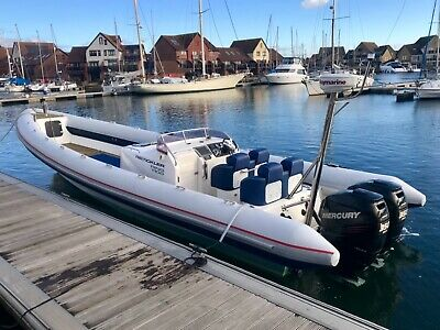 Rib Boat -Cabin 11 Mtr Ring With Twin 350 Verado Outboards 97 Hours!
