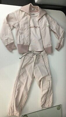 Papermoon Girls Outfit 3 Piece Set Baby Pink Tracksuit Age 4 Yrs Top