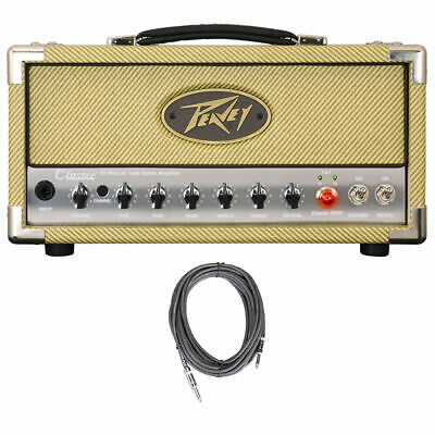 Peavey Classic 20W Micro Head 3-Band EQ USB Out Tube Guitar Amp Head +FREE Cable