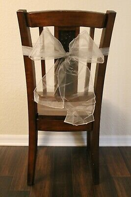 Lot of 60 Silver Chair Sashes - Wedding - Events