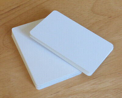 50 Blank Playing Cards / Flash Cards - Blank Both Sides