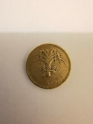 One Pound Coin £1 Welsh Leek collection RARE OLD 1985 CIRCULATED reverse error