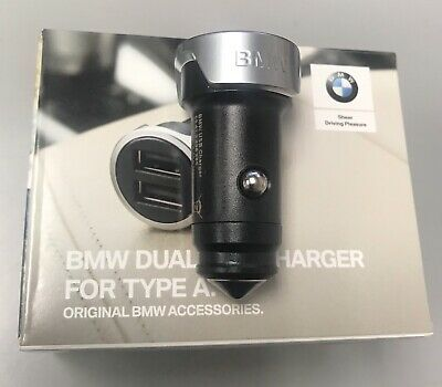 BMW Genuine Dual USB Charger for Cigarette Lighter 65412458285 iPhone iPad iPod
