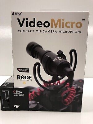 Rode VideoMicro Compact Directional On-Camera Microphone With Osmo Quick Release
