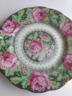 Royal Albert Needlepoint Bone China Bread Butter Plate Minor Flaws Needle Point