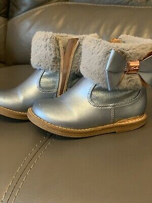 Girls Shoes Size 6 Ted Baker Blue Bow Used Warm Boots