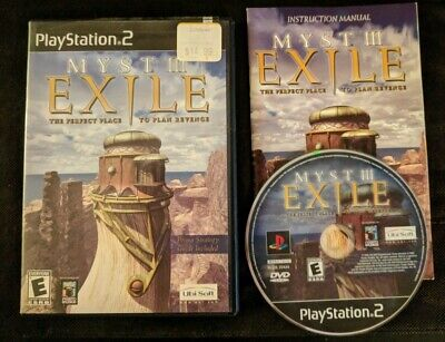 MYST III 3: EXILE (Sony PlayStation 2, 2002 PS2)  Complete