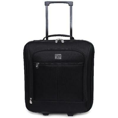 """Travel Rolling Carry On Suitcase Wheeled Baggage Luggage Trolley Bag Black 18"""""""