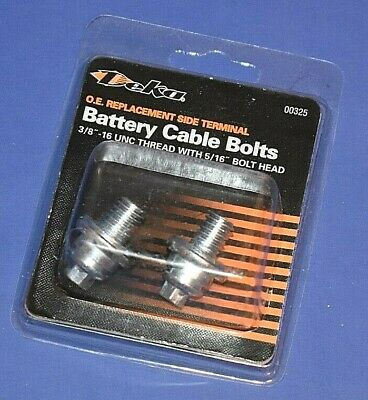 "2 GM TYPE SIDE POST BATTERY CABLE RETAINER BOLTS,3//8/""THREAD 5//16/""HEX OEM TYPE"
