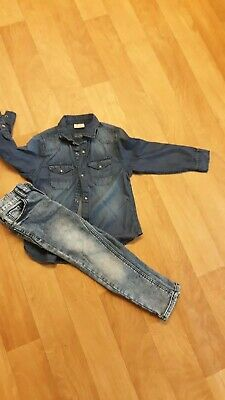 ZARA BOYS DENIM JEANS Shirt and NEXT JEANS Trouser AGE 5 YEARS