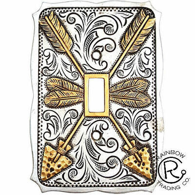 Silver Gold Arrows Single Switch Plate Cover Outlet Southwest Western Decor # 23