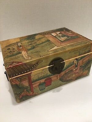 Antique Chinese Hand Painted Box