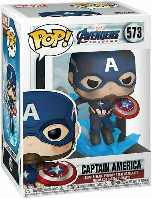 Funko Pop! MARVEL Avengers Endgame #573 Captain America w/ Protective Box!