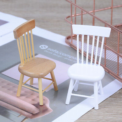 1:12 Dollhouse miniature dining furniture wooden chair    V FR