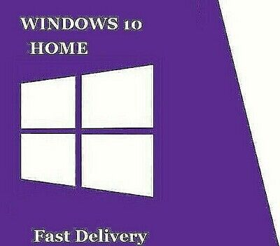 Instant Ship Win 10 'Home', Genuine, Lifetime Activation 'Code'  + Download