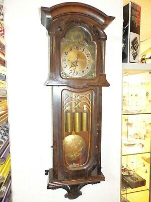 Grand Sonnerie Three Weight Art Nouveau Sezession Wall Clock Regualtor
