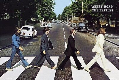 """THE BEATLES - ABBEY ROAD POSTER - CLASSIC ALBUM COVER - 91 x 61 cm 36"""" x 24"""""""