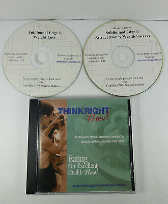 3 cds - Subliminal Weight loss and Attract money and Think right now for health!