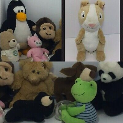 """💜 Mixed Lot Of 10 Stuffed Plush Animal Toys All Are 12"""" And Smaller C9"""