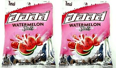 2x HALLS Watermelon Flavor Center-Filled Candy No.1 in Thailand Fruit Sour 28g.