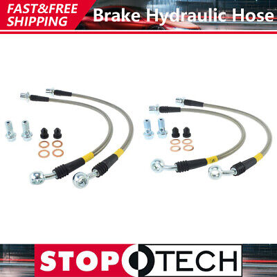 Techna-Fit Stainless Steel Braided Brake Lines 1995-1999 Dodge Neon w// Rear Disc
