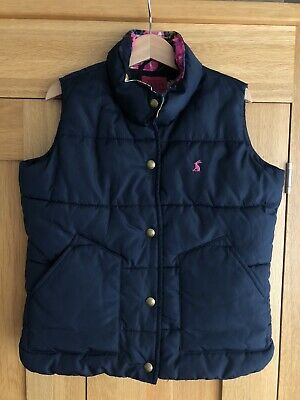 Joules Girls Gilet Age 6 BNWOT Navy Blue Jacket Coat Floral Lining Brand New