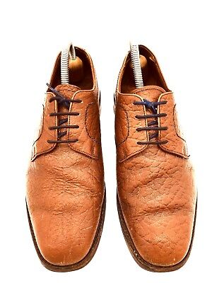 Loake Bros Camel Leather Lace Up Gibson Shoes Made England UK 7.5 EU 41 US 8.5