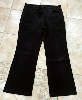 Marks & Spencer Corded trousers Size 12 Medium Dark Brown