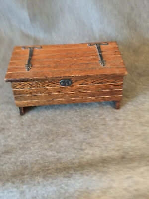 Vintage Wooden Chest Musical Jewellery Box [ arts & crafts ] Tallent of bond st