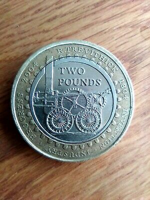 £2 Two Pound Coin 2004 Richard Trevithick Steam Train Locomotive