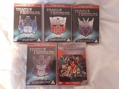 Transformers Animated Tv Series Dvd Collection (Series 1 - 4) & Movie