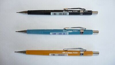 Pentel P200 Mechanical Pencil 0.5mm 0.7mm 0.9mm P205 P207 P209 combinations