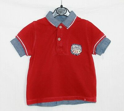 Levi's Red Chambray Short Sleeved Mock Polo Shirt Age 3 Years