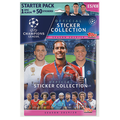 Topps UEFA Champions League 2019/20 Stickers Collection Starter Pack +50 sticker