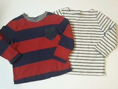 Boys Mini Boden Hanna Andersson Long Sleeve Shirts size 3-4 100 stripes