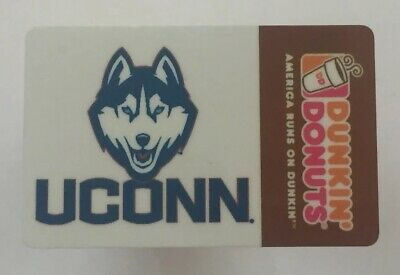 Dunkin Donuts Gift Card. UCONN HUSKIES. Mint. Worldwide shipping $1.