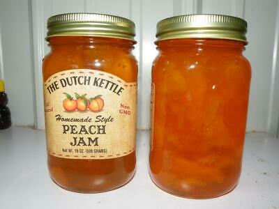 Dutch Kettle All Natural Homemade Peach Jam 19 oz Jar