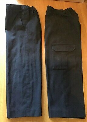 Boys Grey School Trousers x 2 Pairs By TU … Age 5 Years