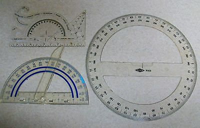 Vtg French Curve, Fiskars Swing Arm & Alvin P263 Navigation Drafting Protractor