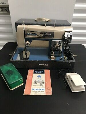 MORSE Fotomatic iii Zigzag Sewing Machine Mcm Mid Century Modern Tested Working