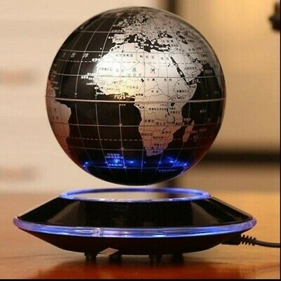 Floating World Globe Map Magnetic Levitation With LED Light -Excellent Condition