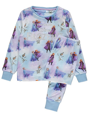 Disney Girls Official Frozen 2 Fleece Pyjamas 1 to 4 Years BNWT