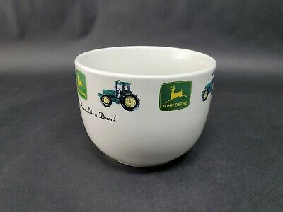 John Deere Large Coffee Mug Chili Soup Bowl by Gibson NOTHING RUNS LIKE A DEERE