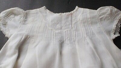 antique baby christening gown -handmade with label